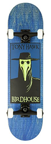Birdhouse Skateboards Premium Quality Tony Hawk Plague Doctor Complete Skateboard, Blue, 8.0