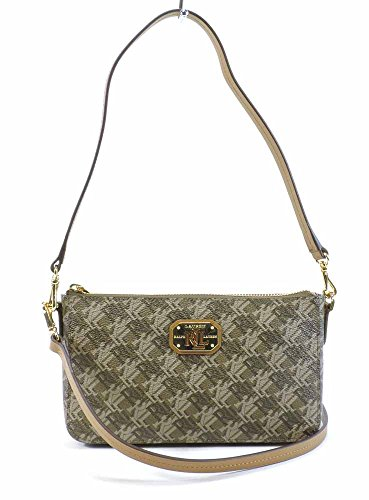 Lauren Ralph Lauren Womens Dobson Monogram Crossbody Handbag Brown - Brown Ralph Bag Lauren