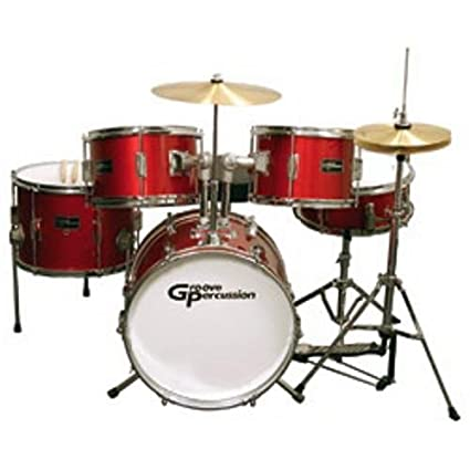 Amazon Com Groove Percussion Jr200 5 Piece Children S Drum Set With