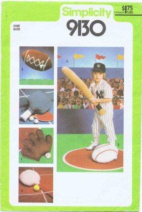 Simplicity 9130 Schnittmuster Sports Kissen – Baseball Handschuhe ...