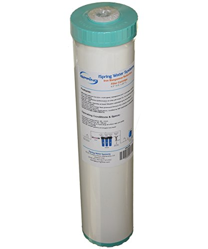iSpring FM25B Iron Manganese Reducing Big Blue High Capacity Replacement Water Filter 4.5