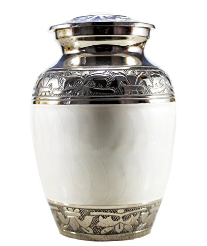 eSplanade Brass Cremation urn Memorial Container Jar Pot Metal Urns Burial Urns Brass Urns.