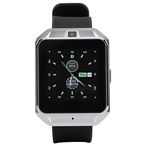 Smart Watch 4G and WiFi Smart Camera Watch 5MP Photo Taking Smart Sport Watch Fitness Tracker Watch Pedometer Watch for Android(Silver) by Aramox
