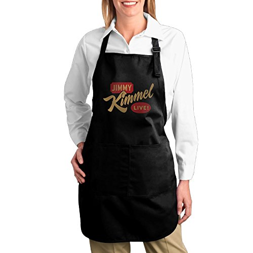 Jimmy-Kimmel-Live-Canvas-Adjustable-Bib-Apron-With-2-Pockets-Black