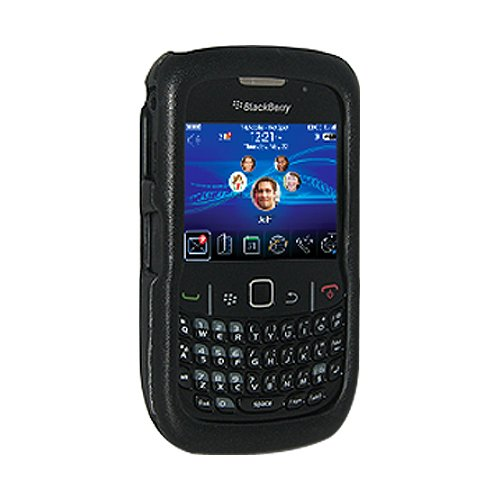 Amzer Limited Edition Elite Leather Snap-On Hard Case for BlackBerry Curve 8520/8530 - 8530 Curve Snap