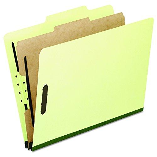 (Pendaflex 2157G Four-Section Pressboard Folders, Legal, 2/5 Tab, Light Green (Box of 10))