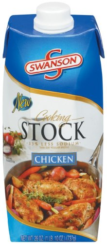 Swanson Chicken Cooking Stock, 26 Ounce Cartons (Pack of 12)