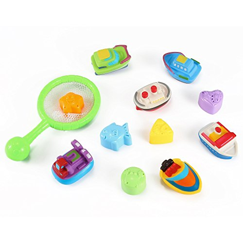 Bath Buddies Set Bath Squirt Toy Set - Ships, Hovercrafts & Fishes by Kinder Toys Network