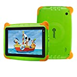 [Upgraded] Contixo K4 HD 7' 6.0 Android Kids Tablet with Durable Protection Case, Pre-Installed Learning Games & Education Apps Bluetooth WiFi Dual Cameras Parental Control for Children (Green)