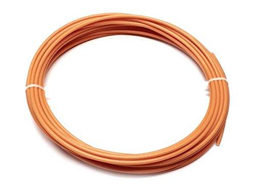 RAL2000 10 m/ètre HDPE Plastique fil a souder PE-HD 4mm Ronde Orange