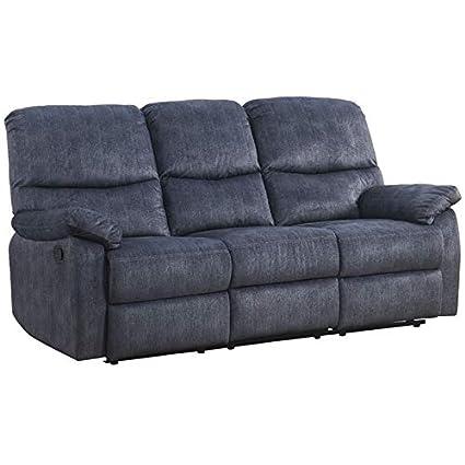 Amazon.com: ACME Furniture 53980 Saul II Sofa Blue Denim ...