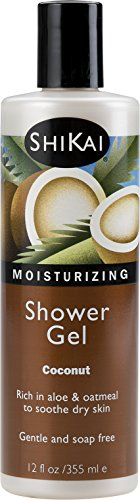 (Shikai - Coconut Moisturizing Shower Gel, Rich in Aloe Vera & Oatmeal That Leaves Skin Noticeably Softer & Healthier, Relief For Dry Skin, Gentle Soap-Free Formula (Coconut, 12 Ounces))