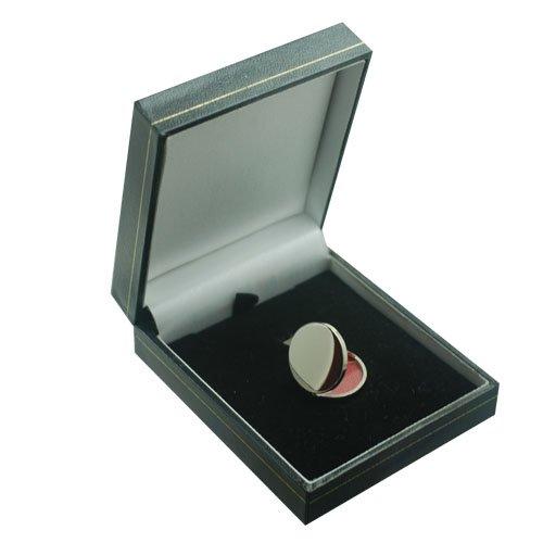 Médaillon à loquet rond 20mm en or blanc 750/1000, simple et plat