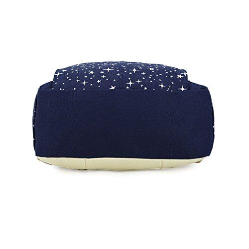 JESBOOW - Bolso estilo cartera para mujer M azul oscuro