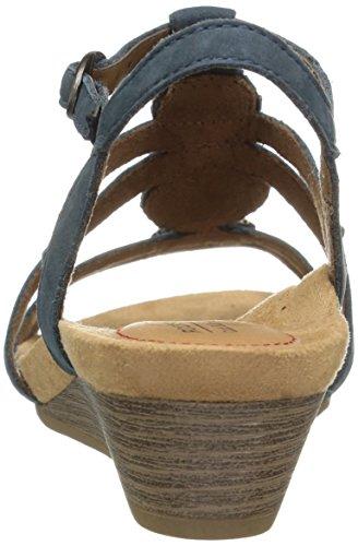 Nubuck Cobb Cobb Hannah Hill Hill Sandal Blue Blue Womens Sandal Hannah Womens xqPXwpCq