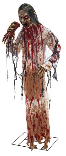 [Man Eater Halloween Prop Lifesize Standing Haunted House Decoration Forum 68006] (Halloween Props)