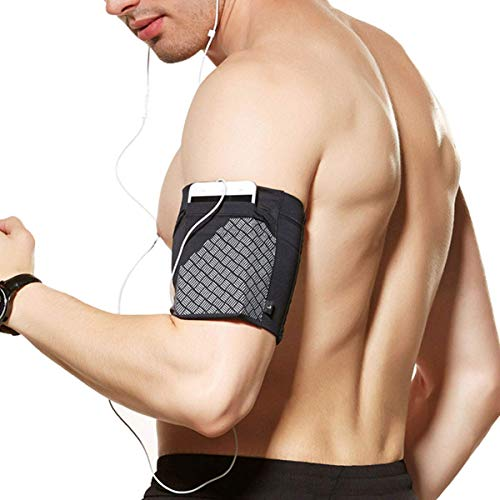 Cell Phone Armband for Running, Sports Armband for all Phones Fitness and Gym Workouts Universal (iPhone X/8/7/6/Plus,Samsung Galaxy S9/S8/S7/S6/Edge/Plus & LG,Huawei,Google,Sony & More) Black L from YUNYILAN