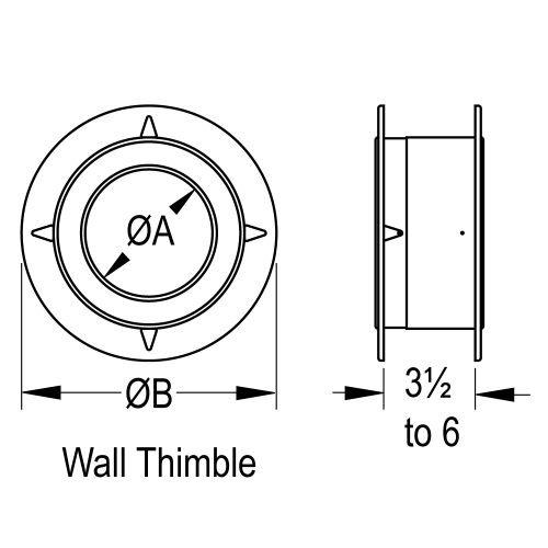 Aluminum Wall Thimble - 5 inch