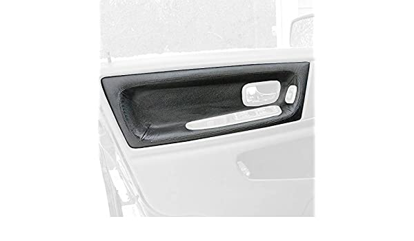RedlineGoods Door Insert Covers Front Compatible with Volvo S70 1997-00 Sierra Leather-Black Thread