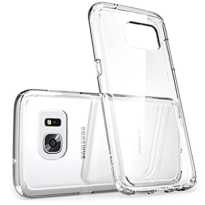 Galaxy S7 Edge Case, [Scratch Resistant] i-Blason **Clear** [Halo Series] Samsung Galaxy S7 Edge Hybrid Bumper Case Cover 2016 Release