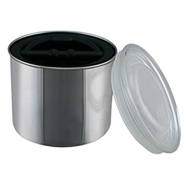 Coffee Storage Canister - Airtight Container Preserves Food Freshness - AirScape Steel - 32 fl. oz - Brushed Steel