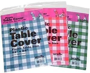 Amazon Com Table Cover Plastic 52x84 1 Pc Random