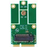 M.2(NGFF)→mini PCI express変換 WiFi+Bluetooth WLAN 無線LANカードなど モジュール用変換アダプタ Key A