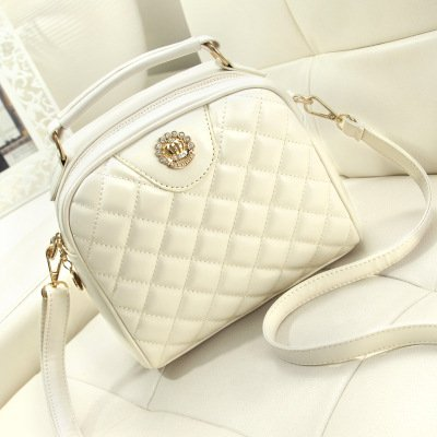 shoulder Satchel diamond temperament GMYAN White bag fashion Lady concise retro single shaped TvxwI1q4