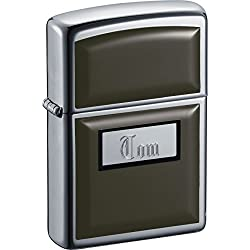 Personalized Black Ulatralite Zippo with Free Engraving