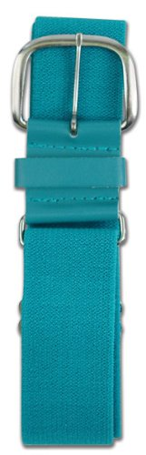 Champro Elastic Baseball Belt with 1.5-Inch Leather Tab (Teal, 28-52-Inch)