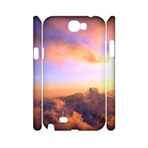 Customized Durable Case for Samsung Galaxy Note 2 N7100 3D, Sunset Cloud Phone Case - HL-697105