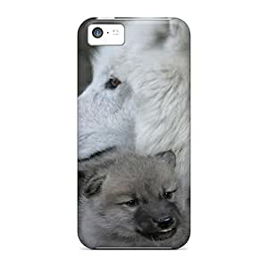 Iphone 5c Hard Back With Bumper Silicone Gel Tpu Case Cover Mother Wolf