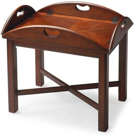 Cheap 251 First Wellington Plantation Cherry Butler Table living room table for sale