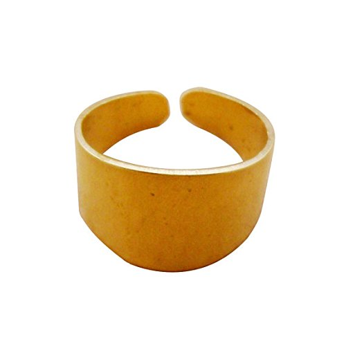 - 10pcs Wide Raw Brass Rings Blanks Bases for Personalized Custom Stamping for Crafters Artisans Lead Nickel Chromium Free 0106-0101