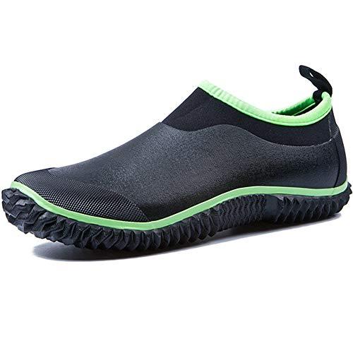 Impermeabile Boot Caviglia Bassi Stivali Stivali Rain in Uomo Donna Unisex Scarponcini alla SUADEEX Verde Gomma Pioggia OgAPn1