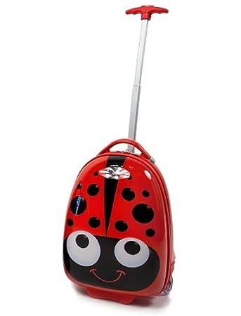 Amazon.com : Kiddidoo Kids Hard Case Luggage Trolley, Ladybug : Baby