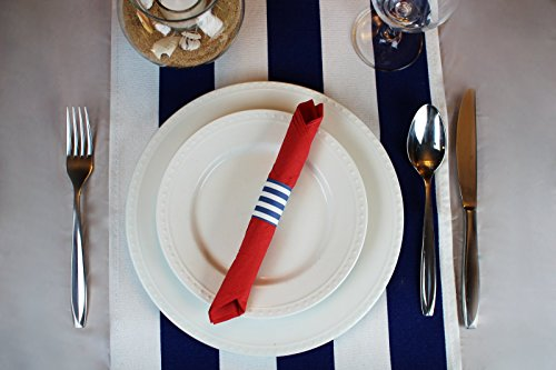 Nautical Party Supplies Custom Self Adhesive Paper Napkin Rings for Boy Baby Shower Decorations, Gender Reveal Ideas, or Birthday Decor 4 Sets of 40 Rings by The French Concept by The French Concept (Image #5)
