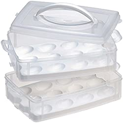 Snapware Snap 'N Stack 2-Layer Food Storage Container with Egg Holder Trays
