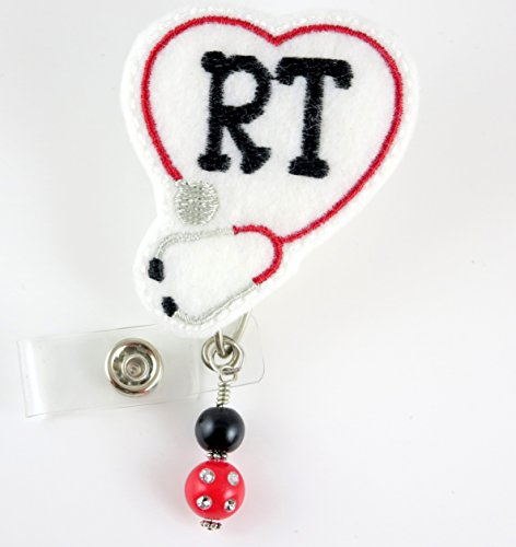 RT Stethoscope with Beads- Nurse Badge Reel - Retractable ID Badge Holder - Nurse Badge - Badge Clip - Badge Reels - Pediatric - RN - Name Badge Holder