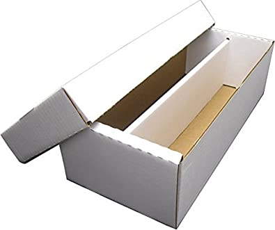 Bcw Shoe 2 Row Storage Box 1600 Ct Corrugated Cardboard Storage Box Baseball Football Basketball Hockey Nascar Sportscards Gaming