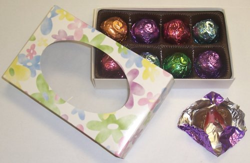 Scott's Cakes 1/2 lb. Milk Chocolate Covered Cherry Brandy Cherries in a Daisy Box with Pastel Color Foils ()
