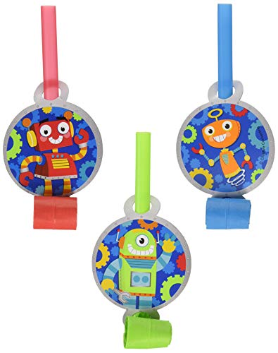 Creative Converting 332230 Robots Science Fair Birthday Party Tableware Decorations Supplies, One Size, Multicolor