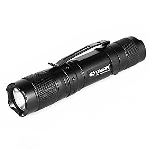 Kamisafe KM-MN10 Cree Q5 LED Mini AA Pocket Flashlight Torch Waterproof EDC Tactical Flashlight with Clip (Black)