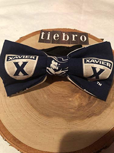 (Xavier University Musketeers adult cotton pre-tied bow tie with 18