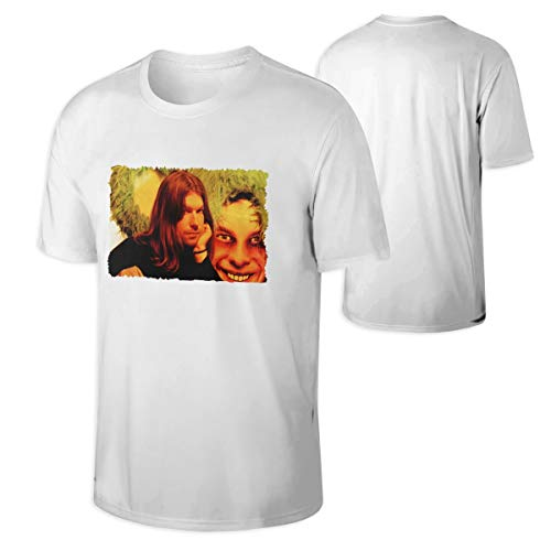 Eileen M Brown Aphex Twin Men's Comfortable Short Sleeve Cotton T Shirt White -