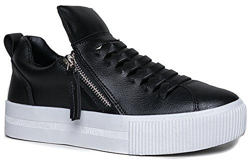 YRU CUTE TO THE CORE GINGER Side Zipper Vented Slit Platform Sneaker - Galaxy Match Price Golf