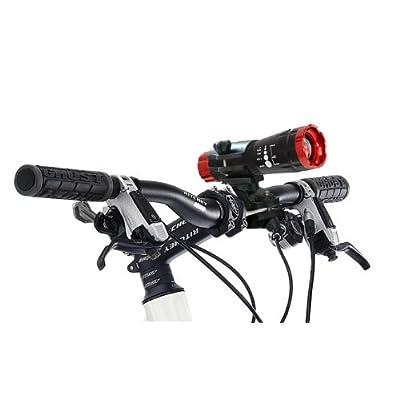 Éclairage LED de vélo. lampe de bicyclette. lumière de bicyclette. noir-rouge nouveau / marque PRECORN