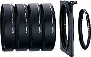 Canon Gelatin Filter Holder Adapter IV 72 -Adaptador de filtros fotográficos para objetivos EF, negro
