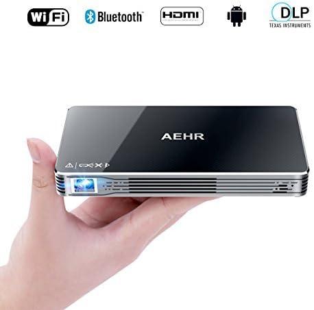 projecteurs vid/éo de poche intelligents Android 7.1 Mini projecteur portatif cin/éma maison 100ANSI DLP Pico avec WiFi//Bluetooth//haut-parleur//prise en charge de la distorsion trap/ézo/ïdale HDMI