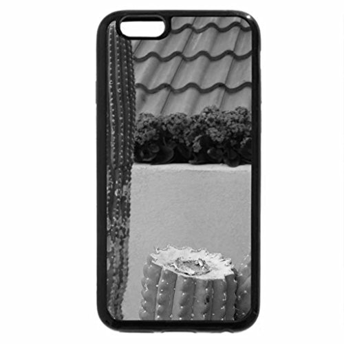 iPhone 6S Plus Case, iPhone 6 Plus Case (Black & White) - Giant Cactus at the garden